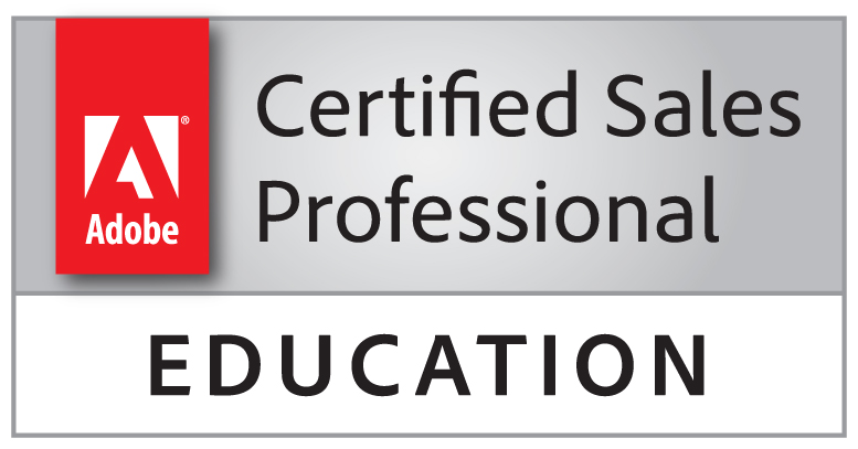 adobe certified sales professional education badge stacked